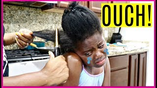 Download My First Pressing Comb Experience ( I CRIED! ) | Niyah Vlogs Video
