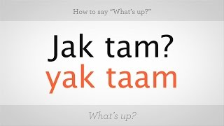 Download How to Say ″What's Up″ in Polish | Polish Lessons Video