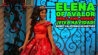 Download Elena of Avalor meet-and-greet during ¡Viva Navidad! at Disney California Adventure Video