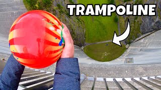 Download BOWLING BALL Vs. TRAMPOLINE from 165m Dam! Video