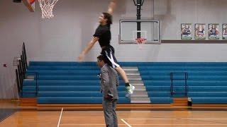Download Grayson Allen Dunks Over TV Sports Anchor Video