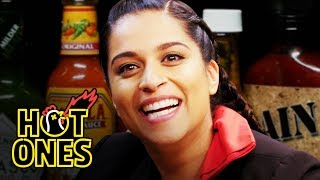 Download Lilly Singh Fears for Her Life While Eating Spicy Wings | Hot Ones Video