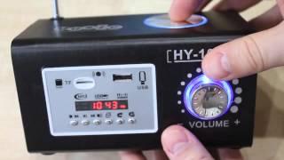 Download Портативная акустика (колонка) на аккумуляторе | Обзор USB, MicroSD, AUX-IN, FM-проигрывател Video