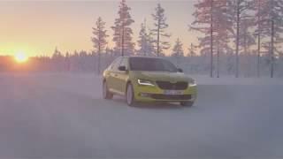Download KODA SUPERB SPORTLINE 4x4 footage in winter conditions Video