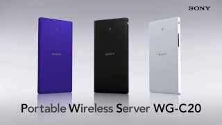 Download Sony Portable Wireless Server WG-C20 Video