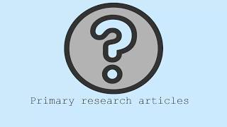 Download How to find primary research articles Video