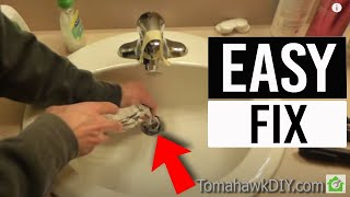 Download Easy to Fix a Clogged Sink - No Tools Needed Video