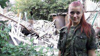 Download Несломленная... Ополченка Рыжая на руинах своего дома Video