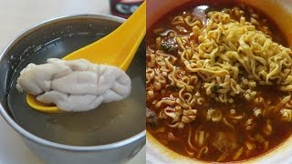 Download Eating Taiwanese Ramen, Pig Brain Soup & Breakfast From 7-Eleven Video