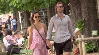 Download Pregnant Pippa Middleton in love with husband James Matthews hand in hand in Paris Video