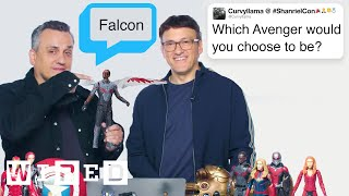 Download The Russo Brothers Answer Avengers: Endgame Questions From Twitter | Tech Support | WIRED Video