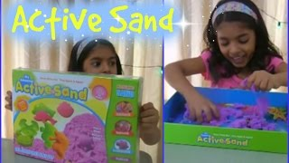 Download Active Sand for kids - kid having fun with active sand Video