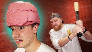 Download Will A Bubble Gum Helmet Protect Your Head?! Video