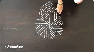 Download Unique Rangoli Design || kolam with circular dots Video