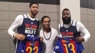 Download Ronaldinho Meets NBA All Stars Video