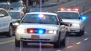 Download Emergency services responding to an accident in Portland (No serious injuries) Video