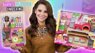 Download NEW Barbie Baker and Pizza Chef Playset Toy UNBOXING + Mini Pizza Recipe! Video