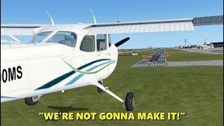 Download Landing with an ENGINE FAILURE! Flight Simulator X (Multiplayer) Video