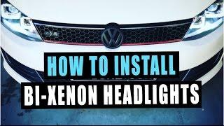 Download How to install projector headlights (VW MK6 Jetta GLI) Video