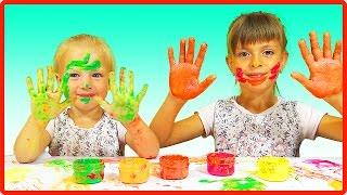 Download Как рисовать ПАЛЬЧИКОВЫМИ КРАСКАМИ Развлечение для детей и не только Video