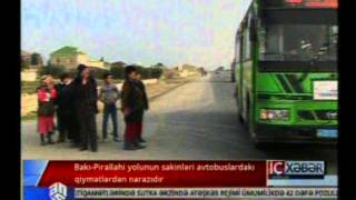 Download Bakı Pirallahi yolunun sakinləri avtobuslardakı qiymətlərdən narazıdır Video