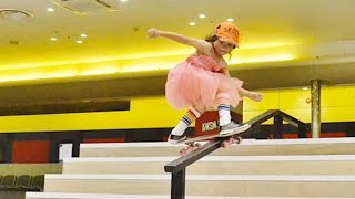 Download 8 YEAR OLD GIRL IS INCREDIBLY TALENTED AT SKATEBOARDING Video