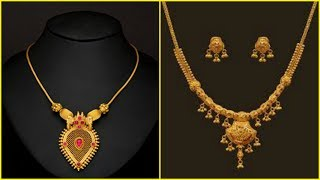 Download Light Weight Gold Short Necklace Designs Video