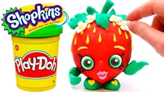 Download Shopkins Play Doh STOP MOTION videos Strawberry Kiss claymation plastilina playdough Video