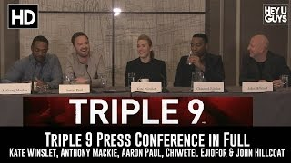 Download Triple 9 Press Conference in Full (Kate Winslet, Anthony Mackie, Aaron Paul, Chiwetel Ejiofor) Video