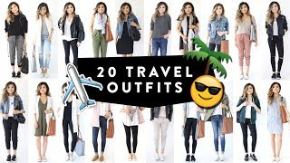Download 20 TRAVEL OUTFIT IDEAS | Casual Travel Fashion Lookbook | Spring Summer Airport | Miss Louie Video