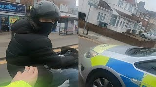 Download I almost died! Moped Thieves Pursuit 2019 London Near Ace Cafe Video