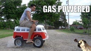 Download Gas Powered VW Minibus PowerWheels Video