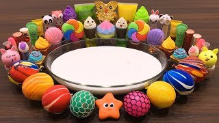 Download Mixing Random Things into FLUFFY Slime #9 !!! Slimesmoothie ! Relaxing Satisfying Slime Videos Video