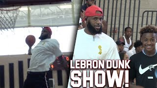 Download LeBron James INSANE DUNKS At His Sons Game! 7th GRADERS DUNK LIKE THE NBA!! Video