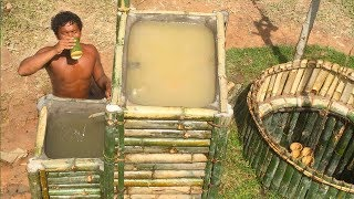 Download Search groundwater and Build Water filter in the forest by ancient skill ( wells bamboo ) Video