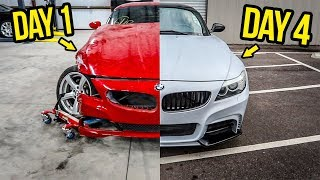 Download Rebuilding (And Modifying) A DESTROYED BMW Sports Car In 4 Days Video