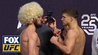 Download Khabib Nurmagomedov vs Al Iaquinta face-off | WEIGH-IN | UFC 223 Video