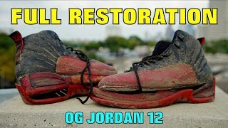 Download OG JORDAN 12 FULL RESTORATION!! (FOUND IN TRASH) Video
