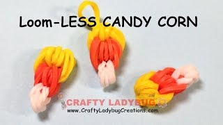 Download Rainbow Loom-LESS EASY CANDY CORN CHARM HALLOWEEN Series Tutorials by Crafty Ladybug/How to Video