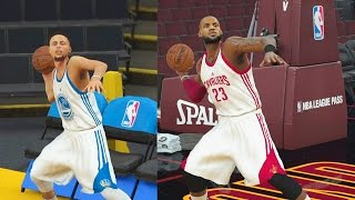 Download Who Can Make a Full Court Shot First in the NBA? Stephen Curry vs LeBron James! NBA 2K18 Gameplay Video