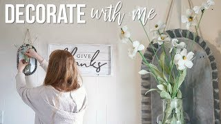 Download DECORATE WITH ME!! | FARMHOUSE STYLE DECORATING! Video