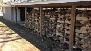 Download Mobile wood rack system for a wood burning boiler Video