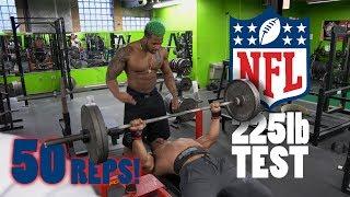 Download Larry Wheels & Terron Beckham NFL 225 Bench Test | Athlete Vs Record Breaker Powerlifter Video
