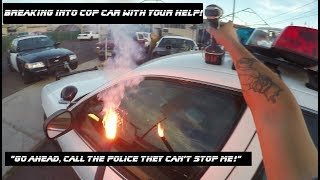 Download 1000 Degree Drill Breaking into Cop Car Ford Crown Victoria police Video