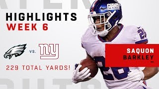Download Saquon Barkley Breaks Out w/ 229 Total Yards & 1 TD vs. Philly Video
