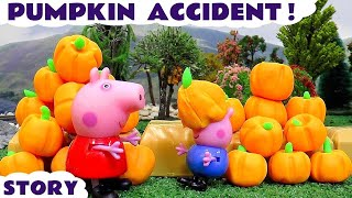 Download Peppa Pig Play Doh Halloween Pumpkin Thomas and Friends Accident | Juguetes de Peppa Pig Video