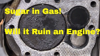 Download Will Sugar in Gas Destroy a Vehicles Engine? See what it does to this Engine! Video
