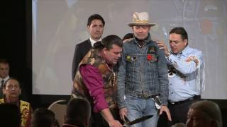 Download Video: Gord Downie overcome with emotion at Assembly of First Nations event Video