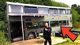 Download DOUBLE-DECKER BUS CONVERTED INTO 3 BEDROOM HOME TOUR 🚌🏠 BEAUTIFUL CONVERSION 💚 Video