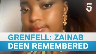 Download Grenfell a year on: Grieving friend pays tribute to Zainab Deen - 5 News Video